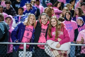 Girls at Football Pink Out 2019