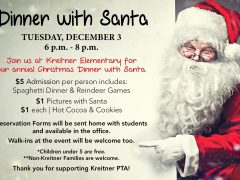 CUSD Families Invited to Kreitner Dinner with Santa