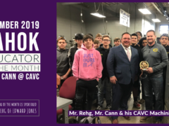 CAVC's Mr. Cann is November 2019 Kahok Educator of the Month