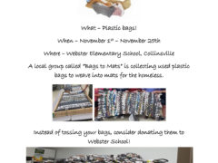 Webster Elementary Collecting Plastic Bags for Sleeping Mats