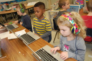 REnfro Students with Chromebooks