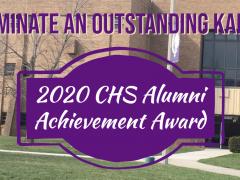 CHS Seeking Nominations for 2020 Alumni Achievement Award