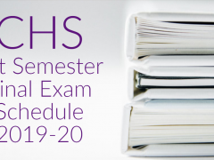 CHS Final Exam Schedule 1st Semester 2019-20