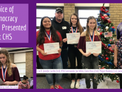 2019 Voice of Democracy Awards Presented to CHS Students