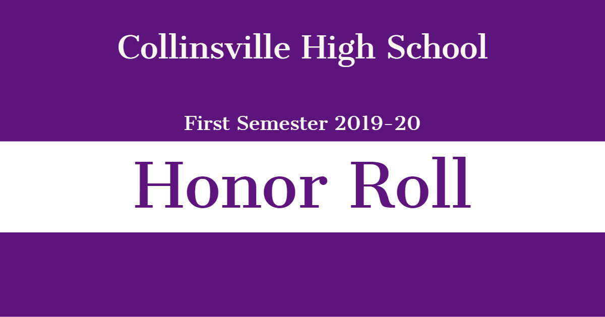 CHS Honor Roll 1st Semester 19-20