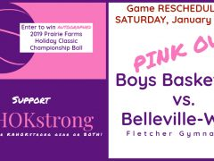 Kahok Boys Basketball PINK OUT Rescheduled to January 18