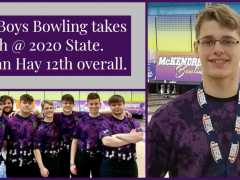 Kahok Boys Bowling Takes 6th at 2020 State; Nathan Hay Medals