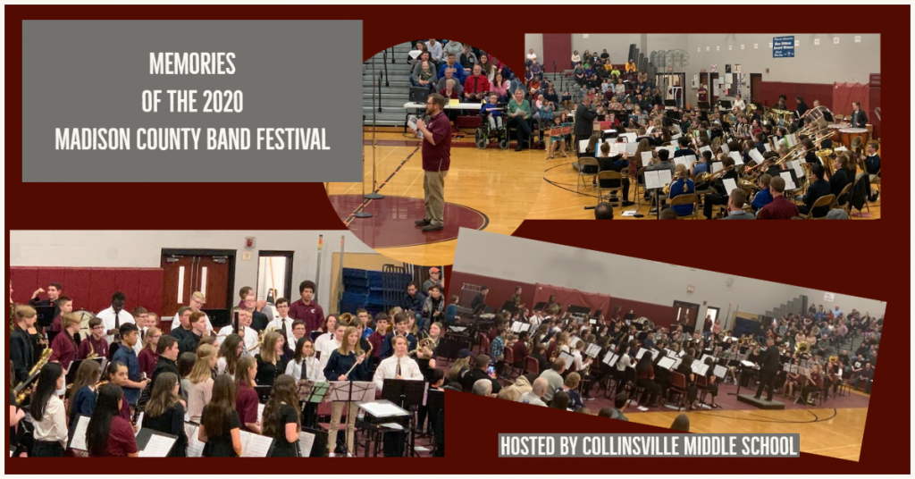 Collage of Feb 2020 Madison County Band Festival