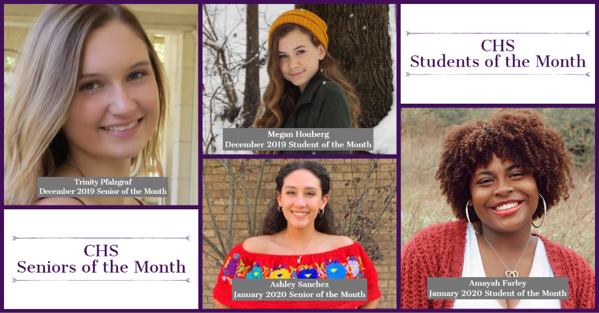 CHS Seniors and Students of the Month Dec 2019_ Jan 2020
