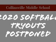 CMS 2020 Softball Tryouts Postponed Until Summer