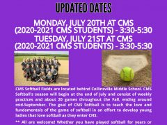 CMS 2020-21 Softball Tryout Info