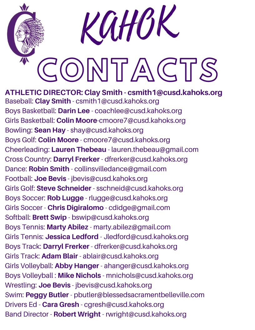 Kahok Contact List Summer 2020
