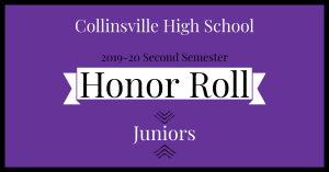 CHS Honor Roll Graphic 2020 Juniors