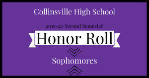 CHS 2020 Honor Roll Graphic Sophomores