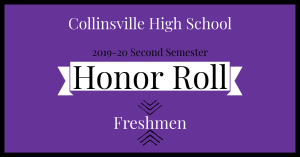 CHS Honor Roll Graphic 2020 Freshmen