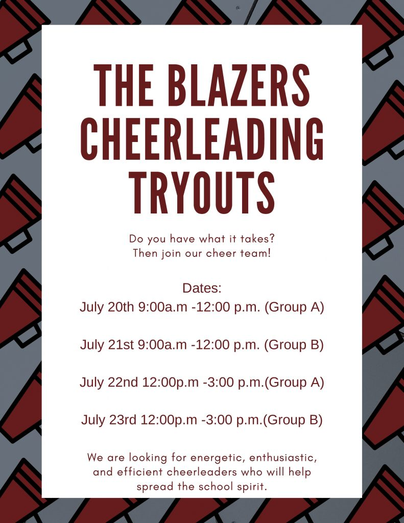 CMS 2020-21 Cheer Tryout Announcement