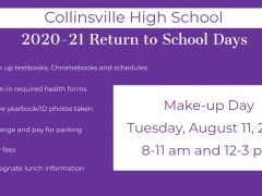 Make-up Date for 2020-21 CHS Back-to-School Pick-up