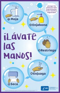 Wash Your Hands Poster Spanish