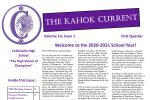 First Quarter 20-21 Kahok Current Newletter