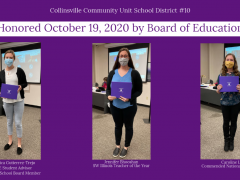 Three Honored at October 19, 2020 BOE Meeting