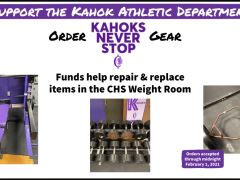 Order Kahoks Never Stop Gear - Improve CHS Weight Room