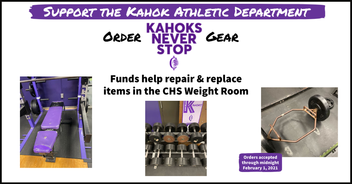 Kahoks Never Stop Gear Order Jan 2021