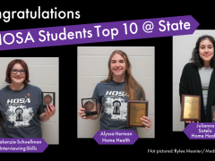 HOSA Students Place Top 10 at 2021 State