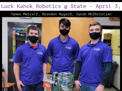 Robotics Team to Compete at State 2021