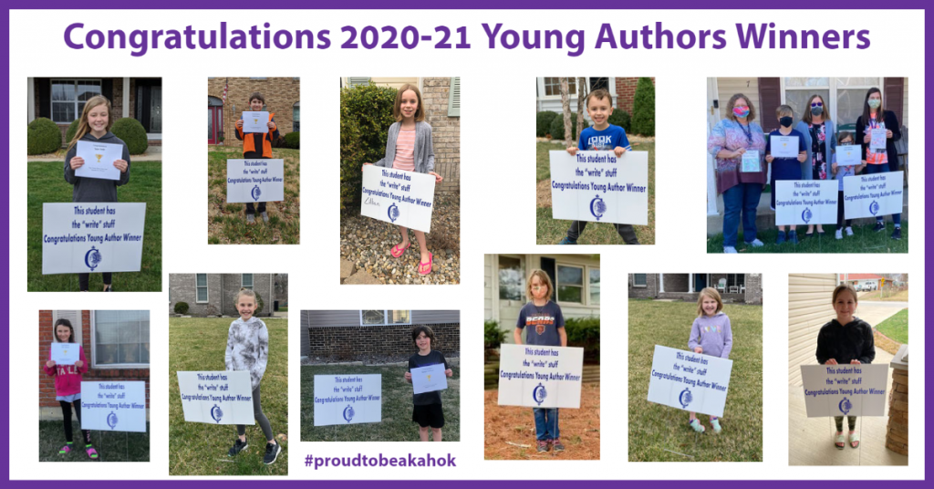 Collage of 20-21 Young Authors Winners