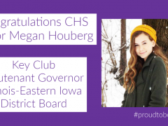 CHS Junior Megan Houberg is Key Club Division Officer