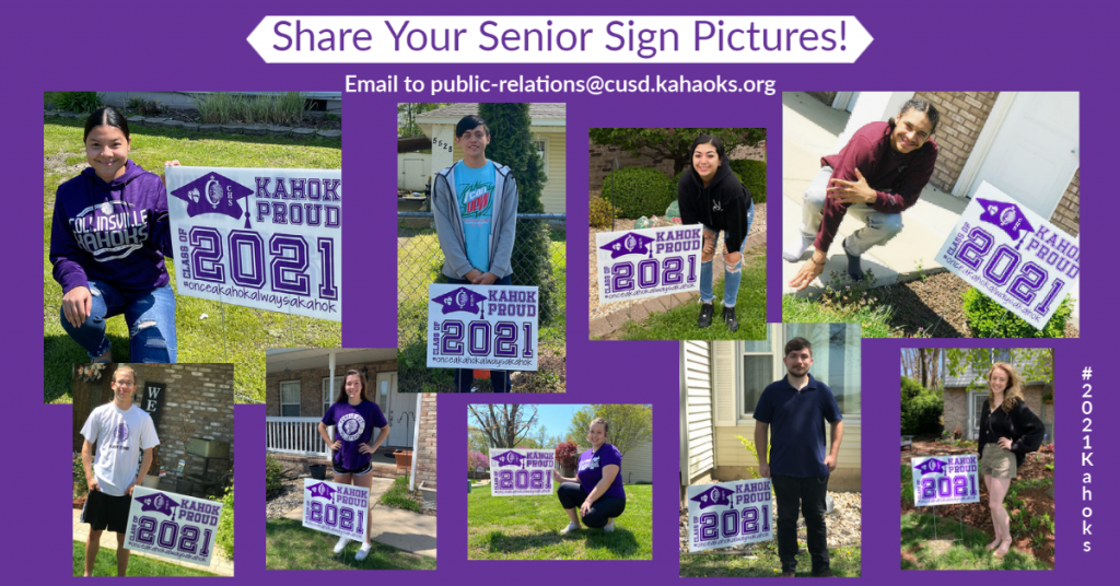 Request for Senior Sign 2021 Photos