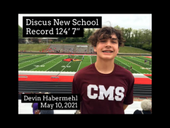 CMS Habermehl Discus Record May 2021