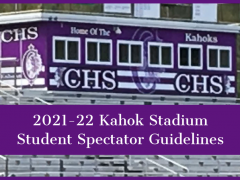 2021-22 Kahok Stadium Student Spectator Guidelines