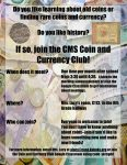 Flyer for CMS Coin Club 21-22
