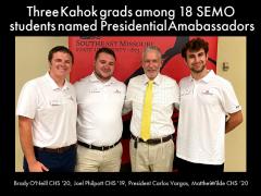 Three Kahok Alumni Are SEMO Presidential Ambassadors